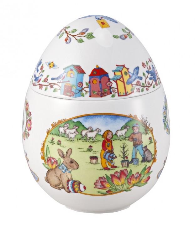 """Hutschenreuther Geschenkserie Ei Bauernhof: Maxi-Spieldose 17 cm Olè Winter - Melodie """"old macdonald had a farm"""""""