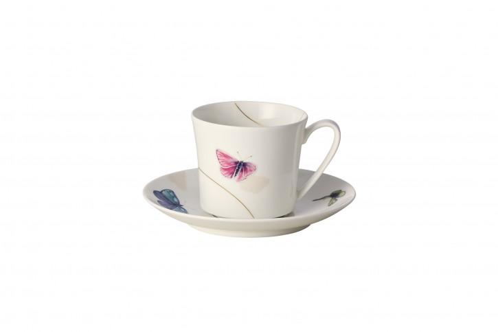 Rosenthal Curve Pepela: Kaffeetasse 2-tlg. 0,20 ltr. UT / Coffee cup & saucer = 15 cm