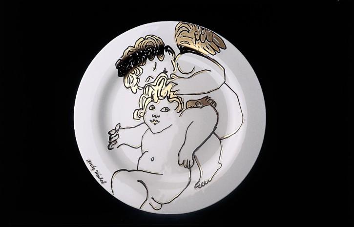 Rosenthal Andy Warhol-Collection Golden Angels X-Mas: Platzteller 31 cm 2005