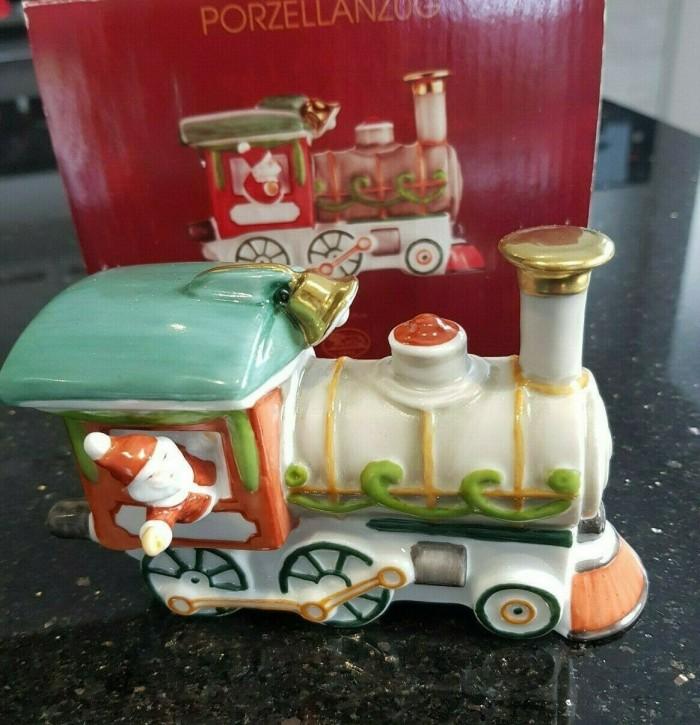 Hutschenreuther Nostalgische Weihnachten - Weihnachtsdorf - Porzellanzug: Lolokotive