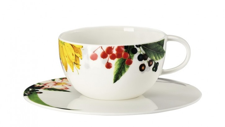 Rosenthal Brillance Les fruits du Jardin: Tee-/Cappuccinotasse 2-tlg. - 0,25 ltr. / UT = 16 cm