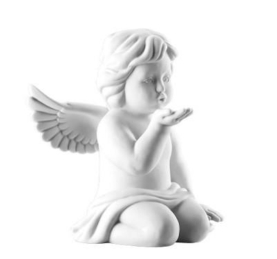 Rosenthal Engel Biskuit-Porzellan matt: Engel Handkuss klein 6,5 cm
