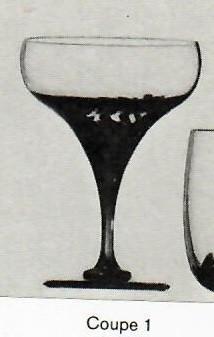 Rosenthal Schneeblume: Sektschale Coupe 1 - H = 15,1 cm; Ø = 10,8 cm; Inh.: 350 ccm