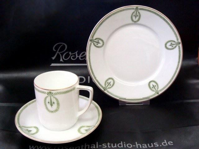 rosenthal empire gr ne bl tterranken kaffeetasse 2 tlg 381 1021. Black Bedroom Furniture Sets. Home Design Ideas