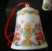 Rosenthal Porzellanglocke 7 cm: Weihnachtsglocke Design Björn Wiinblad