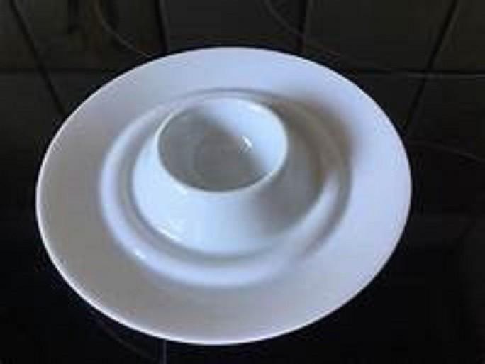Rosenthal Cupola Weiss - weiß: Eierbecher flach - mit Ablage