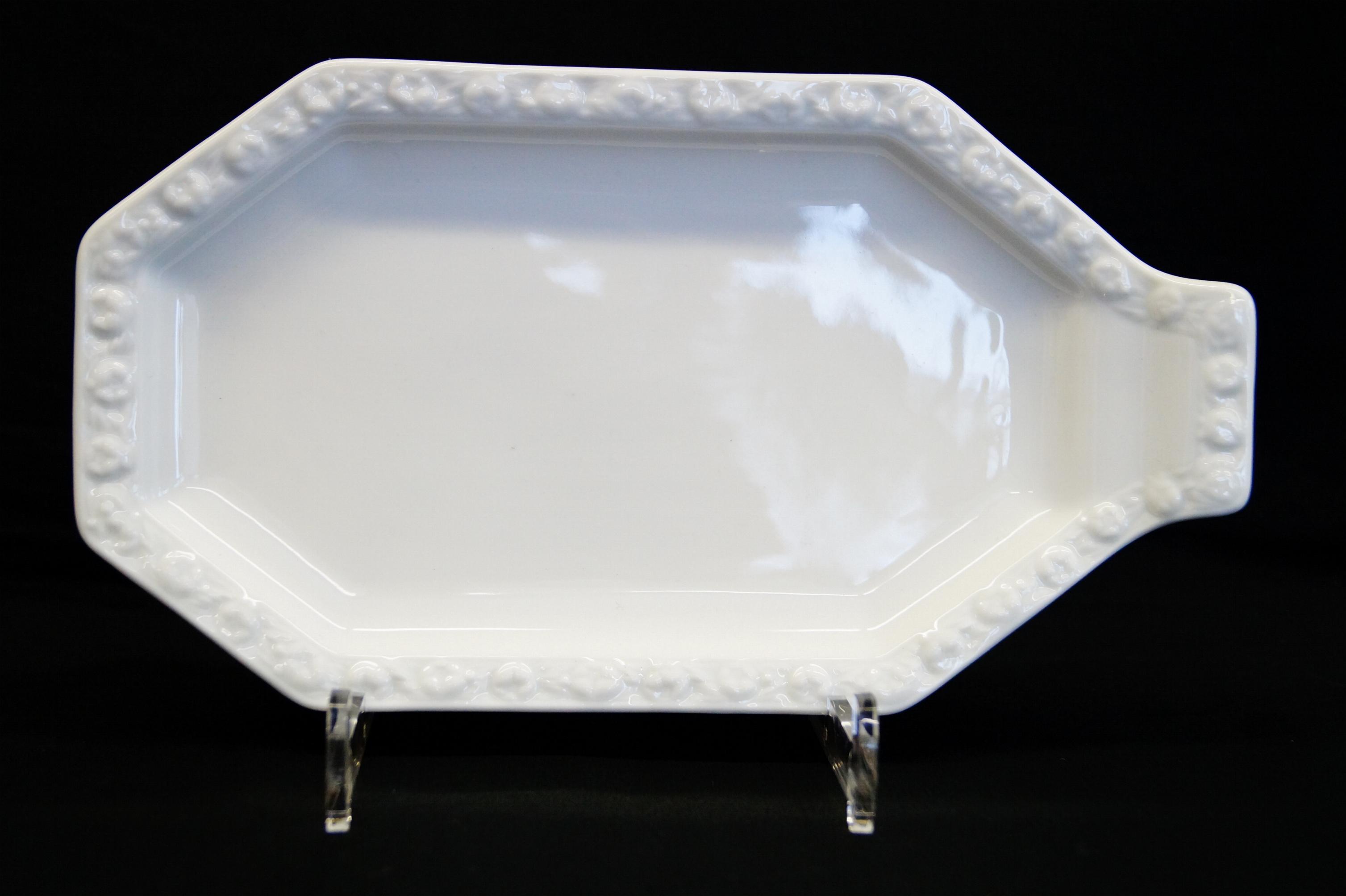 rosenthal maria weiss platte 23 x 13 cm mit 1 seitlichen. Black Bedroom Furniture Sets. Home Design Ideas