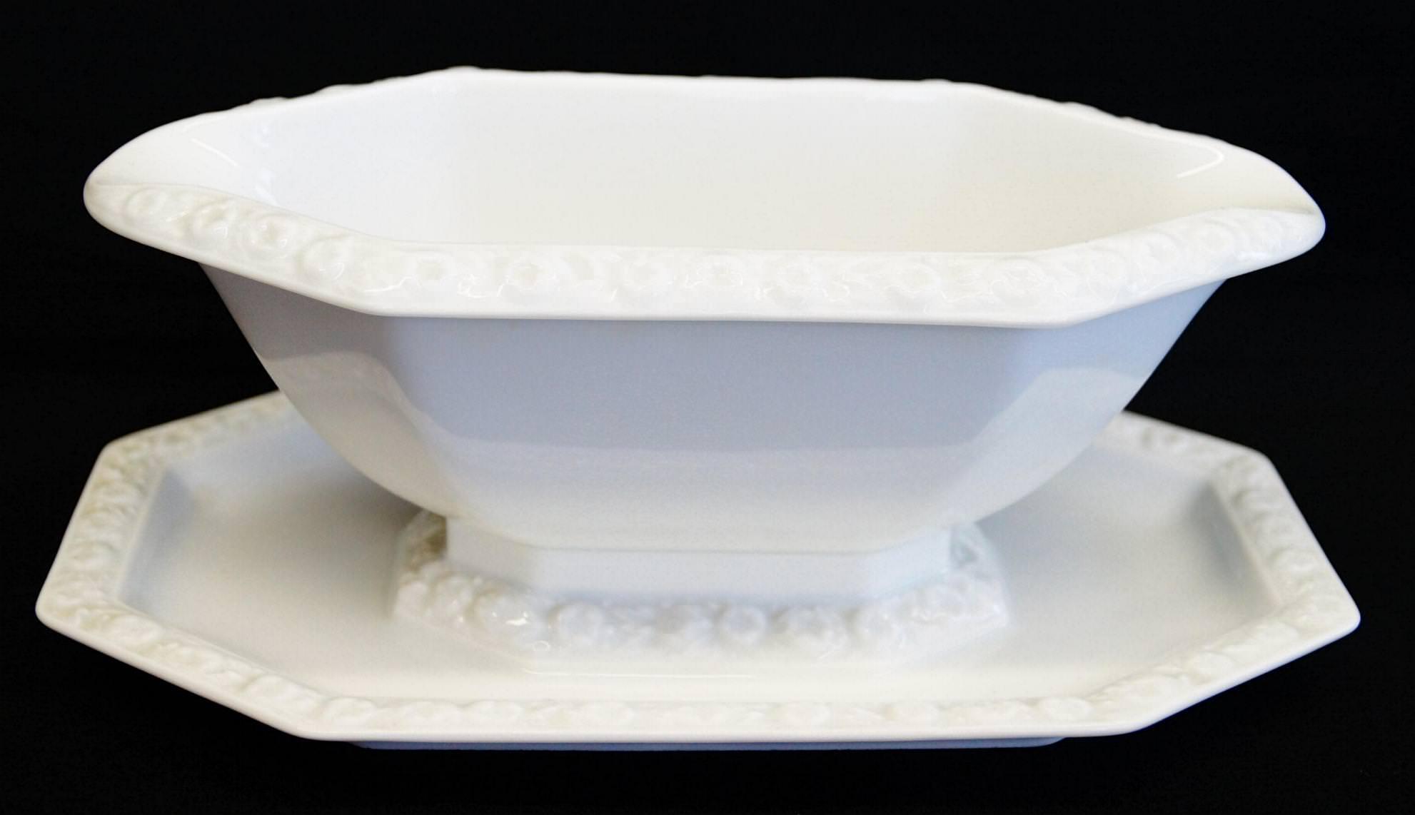 rosenthal maria weiss sauciere mit festem teller 578 5065. Black Bedroom Furniture Sets. Home Design Ideas
