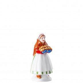 Hutschenreuther Sammelkollektion 2020 Weihnachtsbäckerei - Figuren: Marktfrau Höhe: 10 cm
