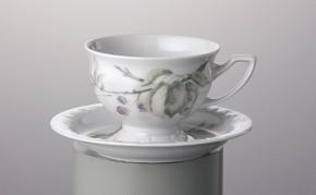 Rosenthal Maria Brombeere: Kaffeetasse 2-tlg. h = 6,5; Durchm: 9 cm: UT = 14 cm