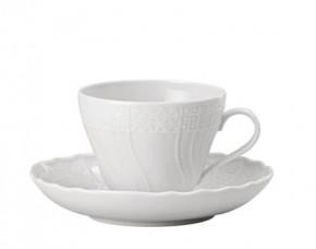 Hutschenreuther Dresden Weiss - Weiß: Kaffeetasse 2-tlg. H = 7 cm; Ø = 8,5 cm; UT = 14 cm