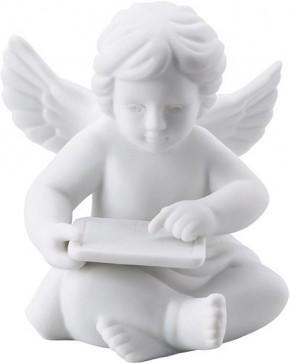 Rosenthal Engel Biskuit-Porzellan matt: Engel mit Tablet 7,5 cm klein