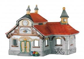 Hutschenreuther Nostalgische Weihnachten - Weihnachtsdorf - Porzellanzug: Bahnhof - Christkindlstadt