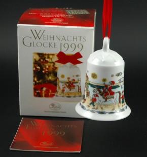 Hutschenreuther Weihnachtsglocken : In den Grachten 1999 Höhe 7 cm Durchmesser 5,5 cm OVP