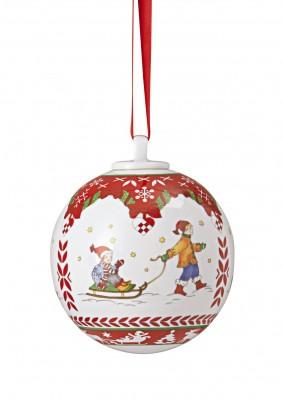 Hutschenreuther Adventszauber: Porzellankugel gross Motiv Winterfreuden
