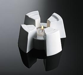 Rosenthal Cupola Weiss - Weiß: Stövchen