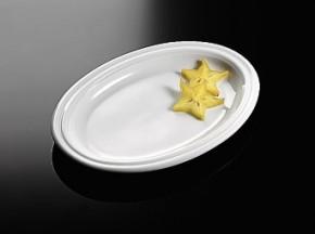 Rosenthal Cupola Weiss - Weiß: Platte 25 24,5 x 17 cm oval / auch Unterteller für Sauciere gross + klein