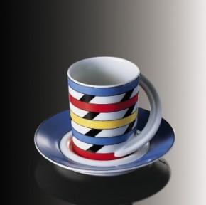 Rosenthal Cupola: Espresso Sammeltasse 2-tlg. Nr. 10 - Designer - Dekor: Yang