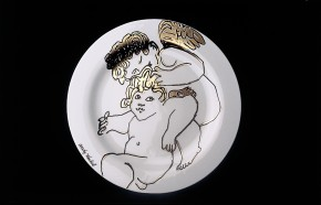 Rosenthal Andy Warhol-Collection Golden Angels X-Mas: Platzteller 31 cm 2005