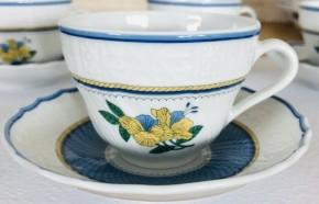 Rosenthal Dresden Elysee Bleu: Espresso-/Moccatasse 2-tlg. UT = 11 cm