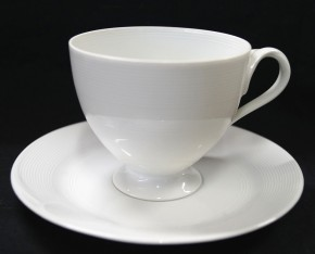 Hutschenreuther Fleuron Chloe Rotonde: Kaffeetasse 2-tlg. H = 7 cm; Durchm. = 8 cm; UT = 14,5 cm