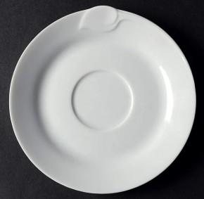 Hutschenreuther Fleuron Cloe Blanche / Weiss: Kaffee-Untertasse 14 cm