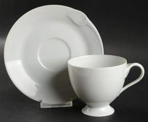 Hutschenreuther Fleuron Cloe Blanche / Weiss: Kaffeetasse 2-tlg. 0,18 ltr. UT = 14 cm