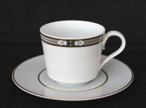 Hutschenreuther Louvre Vendome: Kaffeetasse 2-tlg. H = 7; Ø = 7,5 cm; UT = 15 cm