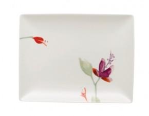 Hutschenreuther Luna Shalima Premium Bone China: Platte rechteckig 25 x 19 cm