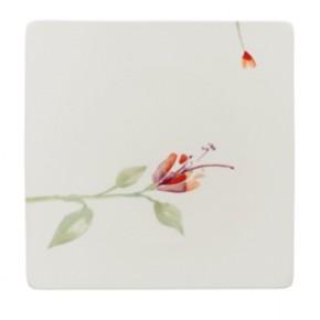 Hutschenreuther Luna Shalima Premium Bone China: Teller 27 cm quadratisch