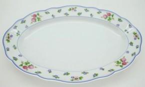 Hutschenreuther Maria Theresia Amalienburg: Platte 35 x 23 cm - Streublümchen