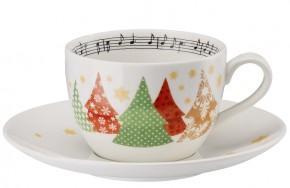 Hutschenreuther Sammelserie Weihnachtslieder - O Tannenbaum: Cappuccinotasse 2-tlg.