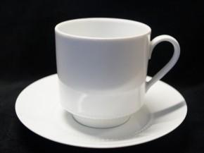 Hutschenreuther Persepolis Perlrand Weiss: Kaffeetasse 2-tlg. UT = 13,5 cm