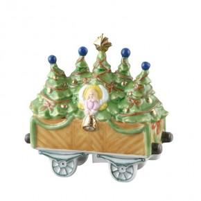 Hutschenreuther Nostalgische Weihnachten - Weihnachtsdorf - Porzellanzug: Christbaumwagen