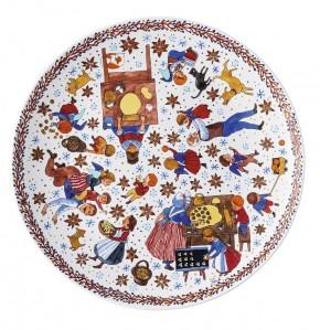 Hutschenreuther Sammelkollektion 2020 Weihnachtsbäckerei: Plätzchenteller 28 cm - Künstler Renàta