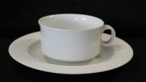 Hutschenreuther Scala bianca - Weiss - glasiert: Teetasse 2-tlg. 0,20 ltr. UT = 17 cm