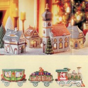 Nostalgische Weihnachten Weihnachtsdorf - Porzellanzug