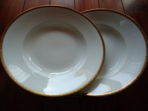 Rosenthal Josephine Rand gold/schwarz: Suppenteller 25 cm