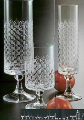 Rosenthal Romanze Kelchglas: Whiskybecher Höhe 8 cm; Ø 8 cm