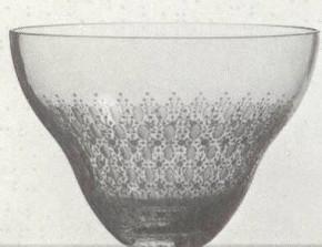 Rosenthal Romanze Strohglas - Flächenschliff: Schale / Schüssel 22 cm
