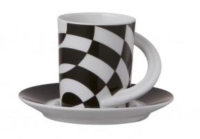 Rosenthal Cupola: Espresso Sammeltasse 2-tlg. Nr. 11 - Designer - Dekor: Jan van der Vaart