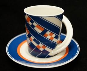 Rosenthal Cupola: Espresso Sammeltasse 2-tlg. Nr. 14 - Designer - Dekor: A. Brüggemann