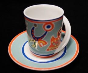 Rosenthal Cupola: Espresso Sammeltasse 2-tlg. Nr. 15 - Designer - Dekor: G. Portanier