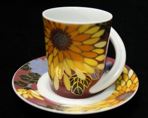 Rosenthal Cupola: Espresso Sammeltasse 2-tlg. Nr. 20 - Designer - Dekor: G. Müller Behrendt