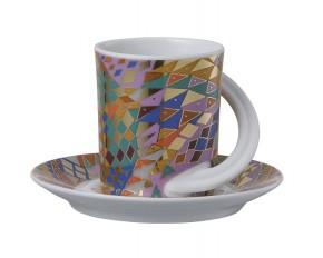 Rosenthal Cupola: Espresso Sammeltasse 2-tlg. Nr. 2 - Designer - Dekor: Barbara Brenner
