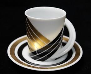 Rosenthal Cupola: Espresso Sammeltasse 2-tlg. Nr. 5 - Designer - Dekor: U. u. K. Scheid