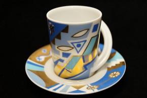 Rosenthal Cupola: Espresso Sammeltasse 2-tlg. Nr. 6 - Designer - Dekor: Yves Galgon