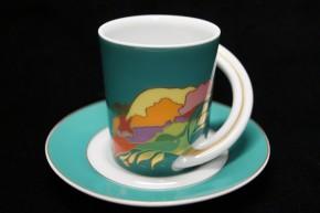 Rosenthal Cupola: Espresso Sammeltasse 2-tlg. Nr. 9 - Designer - Dekor: Björn Wiinblad
