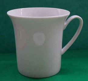 Rosenthal Idillio Weiss - Weiß: Becher mit Henkel 0,35 ltr. - Höhe = 9,6 cm; Durchm. = 9,6 cm