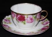 Rosenthal Chrysantheme Cäcilie: Teetasse 2-tlg. Ø = 9 cm H = 5,5 cm UT = 15 cm